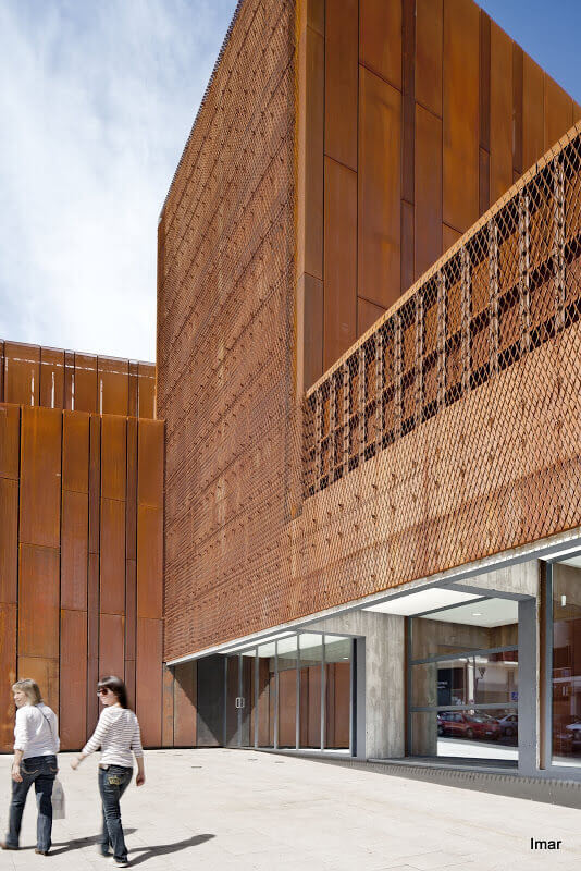 OKE expanded and perforated corten steel.