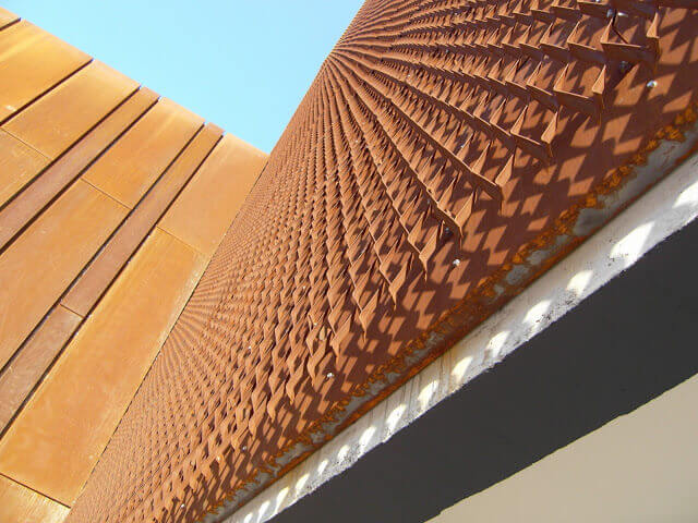 oke expanded and perforated corten steel