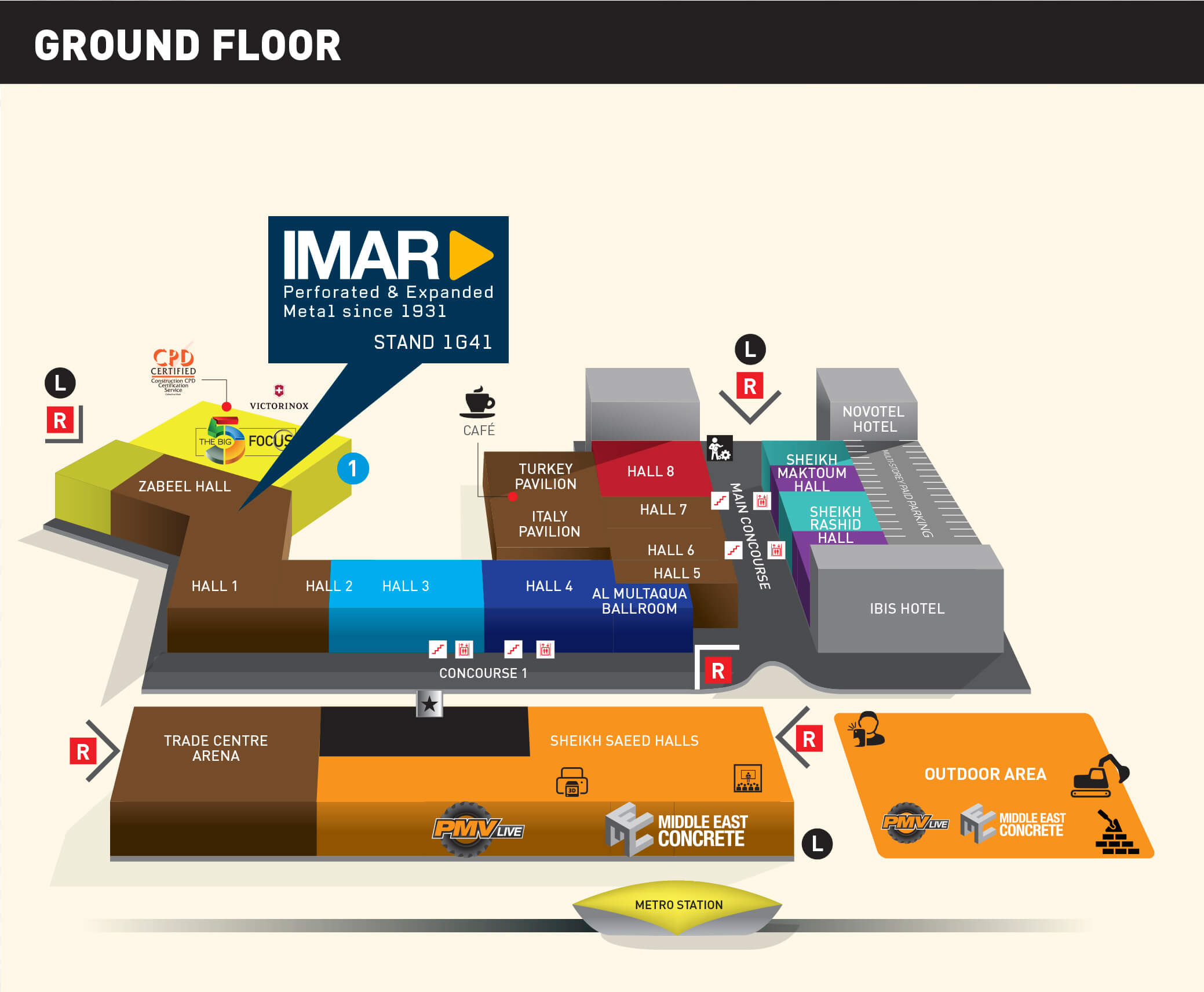 The big 5 Stand Industrias IMAR